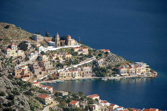 by relong on Flickr.The beautiful town of Symi in Dodecanese Islands, Greece.