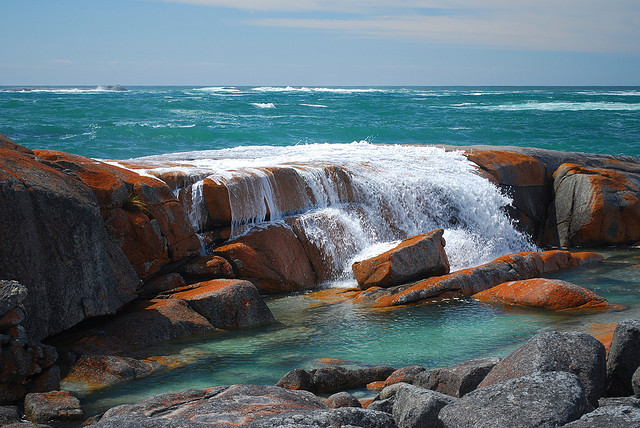 The Bay of Fires is a bay on the northeastern coast of Tasmania in Australia. The bay was given its name in 1773 by Captain Tobias Furneaux, who saw the fires of...