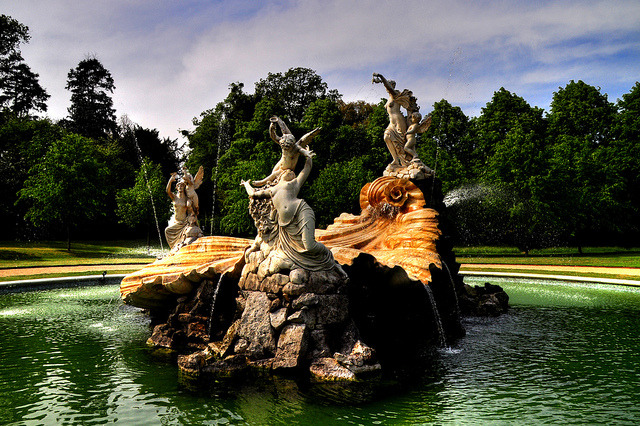 Beautiful Shell Fountain at Cliveden Estate - Buckinghamshire, England.