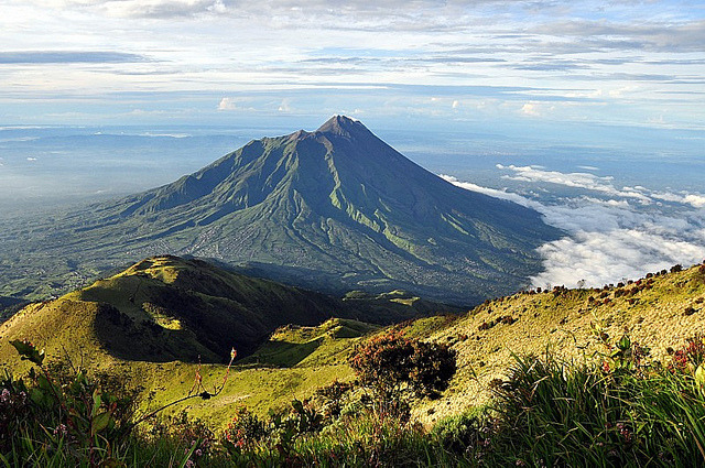 by The JASS on Flickr.Mount Merapi - the most active volcano of Indonesia.