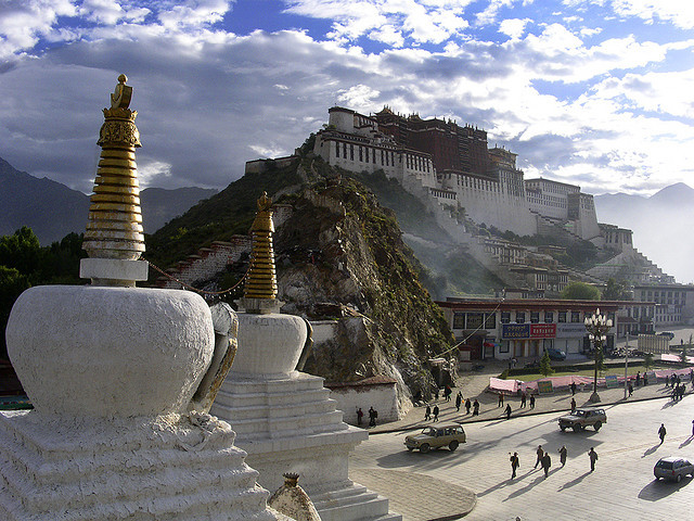 by Kenny Maths on Flickr.Morning view of Potala Palace in Lhasa, Tibet.