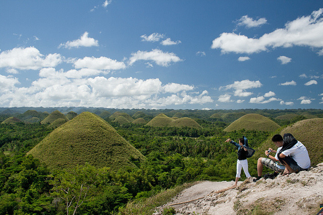 by jaeWALK on Flickr.Tourists in Chocolate Hills - Carmen, Bohol, the Philippines.