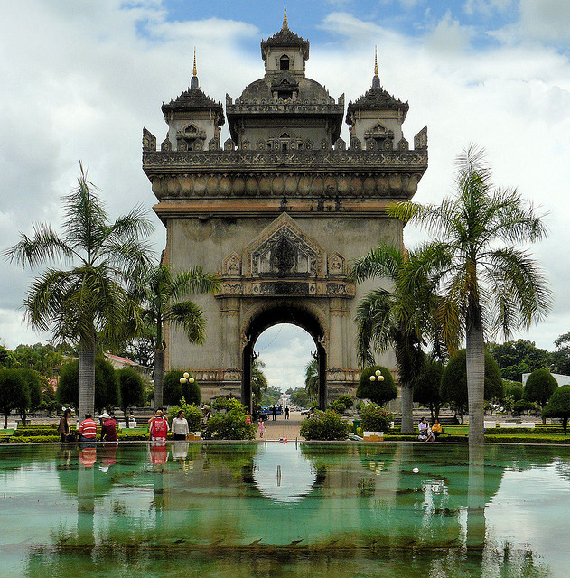 by B℮n on Flickr.The Gate of Triumph in Vientiane, Laos.