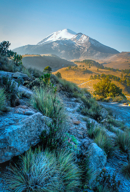 In the shadow of a volcano, Pico de Orizaba, Mexico