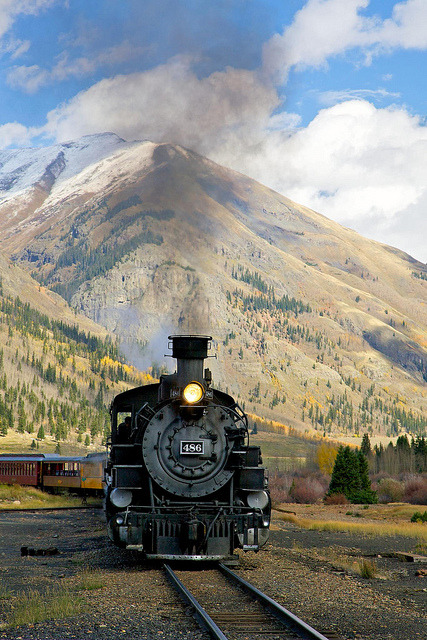 Steam train in the Wild West, Durango & Silverton Narrow Gauge Railroad, Colorado, USA