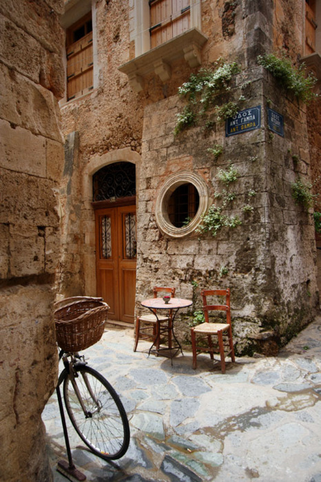 Ancient Street Corner, Isle of Crete, Greece