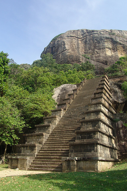 Staircase at Yapahuwa Temple, Sri Lanka