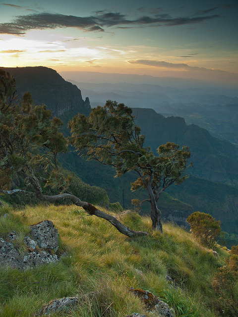 Sankaber Sunset in Simien Mountains, Ethiopia