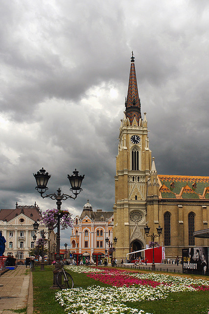Clouds above Novi Sad in Vojvodina, Serbia