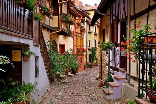 Cobblestone Street,Frieburg, Germany