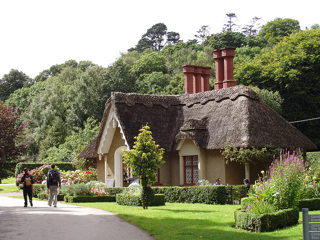 Thatched roof house in Killarney, Co. Kerry, Ireland