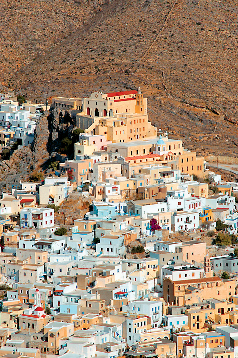 The beautiful town of Ano Syros, South Aegean, Greece