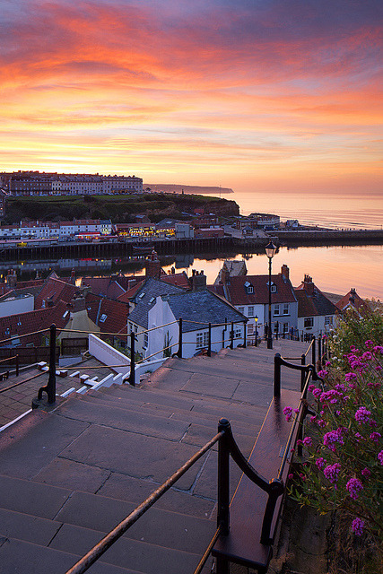 199 Steps to the sea, Whitby, England