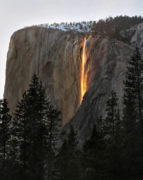 Sunset, Horsetail Falls, Yosemite, California