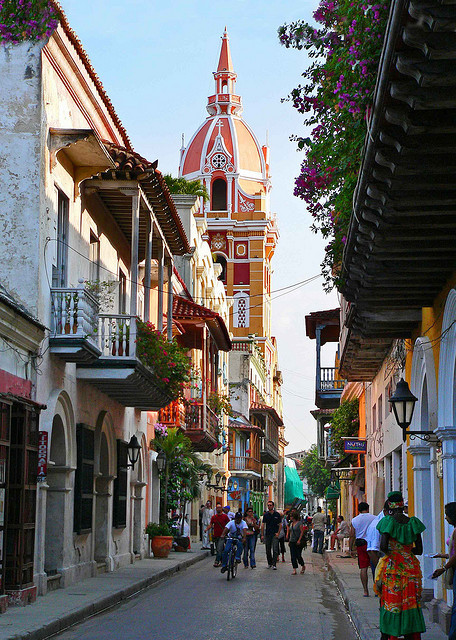 The beautiful streets of Cartagena, Colombia