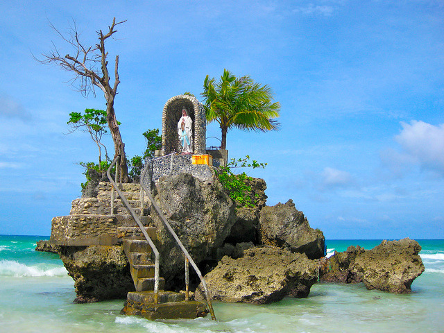 The Grotto at Willy's Rock in Boracay Islands, Philippines