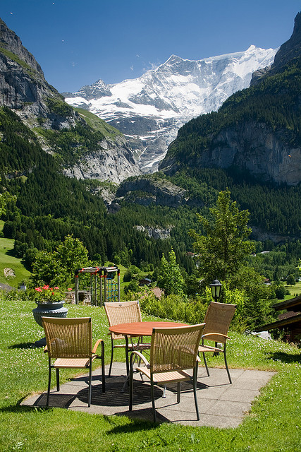 Table with a view, Grindelwald / Switzerland