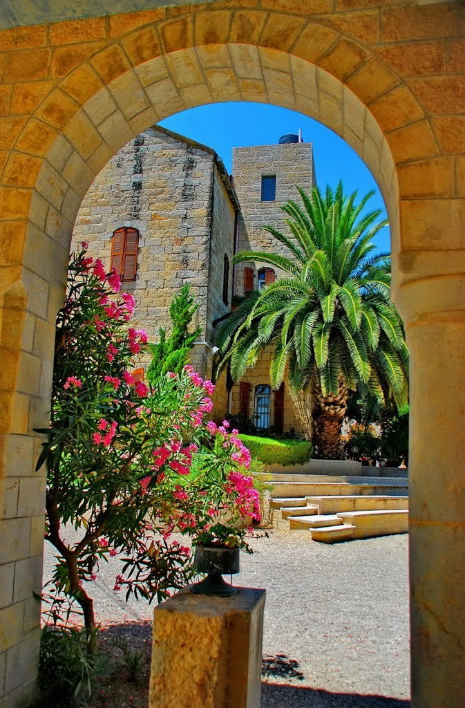 """Arches at the monastery, Abu Gosh / Israel ."""