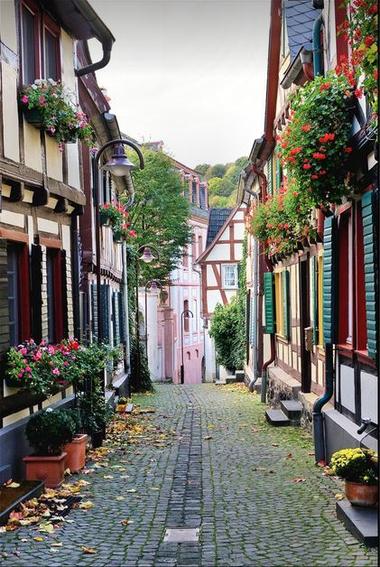 """Charming towns of Rhine Valley, Unkel / Germany ."""